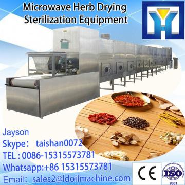 Tunnel continuous conveyor belt type microwave oven for drying tobacco leaf
